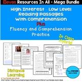 11 - ELEVEN High Low Reading AND Fluency Resources MEGA Bundle