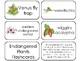 11 Endangered Plants Printable Flashcards. Preschool-3rd Grade