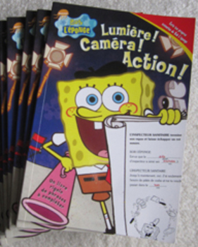 4 FRENCH SPONGE BOB L'EPONGE workbook Literacy reading writing center Incl ship