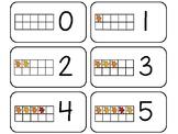 11 Fall Leaf 10 Frame Counting Printable Flashcards. Preschool-KDG Math.