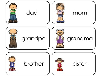 11 Family Beginning Stages Flashcards. Preschool-1st Grade
