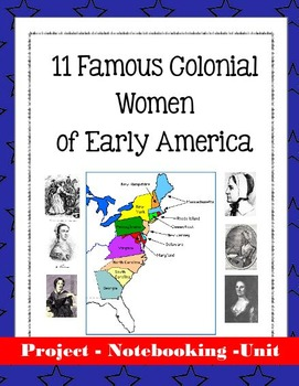 11 Famous Colonial Women of Early America - Biography Unit