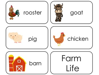 11 Farm Life Beginning Stages Flashcards. Preschool-1st Grade