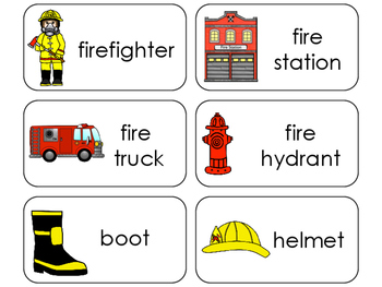11 Firefighters Beginning Stages Flashcards. Preschool-1st Grade