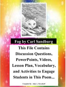 Fog by Carl Sandburg Teacher Supplemental Resources Fun Engaging