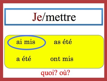 11 French Speaking and Writing Powerpoint Activities (La Bonne Forme)