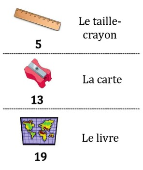 11 French Vocabulary Scavenger/Treasure Hunt Activities