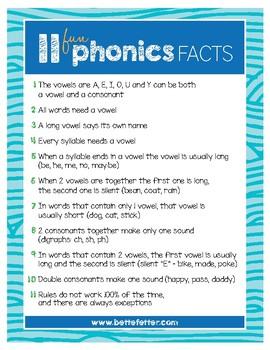 11 Fun Phonics Facts