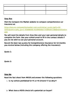 11 General Maths case study buying a car