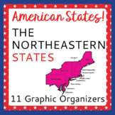 US Geography Northeastern States 11 Graphic Organizers Research Activities