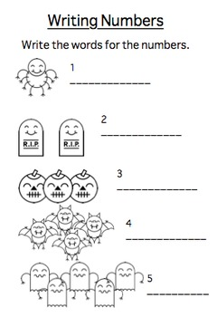 11 Halloween Maths Worksheets for Elementary School. Counting and Additions