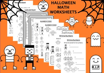 11 Halloween Maths Worksheets for Elementary School. Count