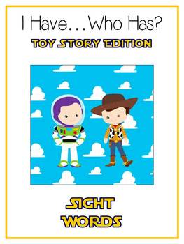 11 I Have Who Has TOY STORY Folder Games - 200+ Dolch Sight Words
