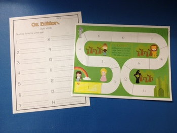 11 I Have Who Has WIZARD OF OZ Folder Games & Board - 200+ Dolch Sight Words