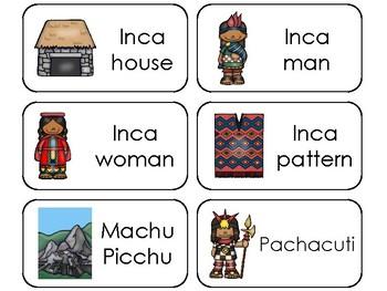 11 Incas Printable Flashcards. Preschool-3rd Grade