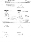 11 Law of Sines & Law of Cosines w/Quizzes & Special Right Triangles