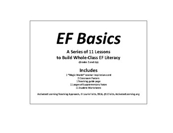 11 Lessons in a Series to Teach Whole Class EF-Literacy