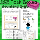 11 Math Counting Numbers Task Boxes Special Education Autism Bonus Activties