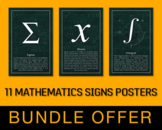11 Mathematics Signs Posters - Bundle Offer