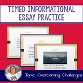 STAAR English I EOC 11 Minute Essay Expository Practice- Overcoming