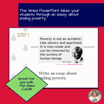 STAAR English I EOC 11 Minute Essay Expository Practice- Poverty