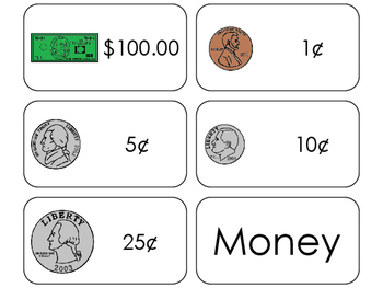 11 Money Printable Flashcards. Preschool-1st Grade