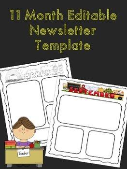 11  Month Editable Newsletter Templates