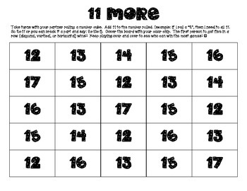 11 More Addition Game