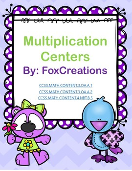 11 Multiplication Math Centers ~ Engaging Common Core Standards