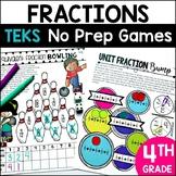 Distance Learning 11 No Prep Fraction Games for 4th grade TEKS