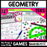 Geometry Games 4th Grade TEKS - Angles, Quadrilaterals, Classifying 2D Shapes