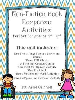 11 Non-Fiction Book Response Activities Perfect for Grades 1 - 3