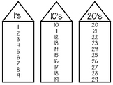 11-Number Houses Work Mats/Worksheets. Preschool-KDG Math.