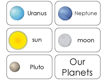 11 Our Planets Beginning Stages Flashcards. Preschool-1st Grade