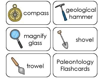 11 Paleontology Printable Flashcards. Preschool-3rd Grade