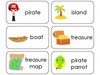 11 Pirates Beginning Stages Flashcards. Preschool-1st Grade