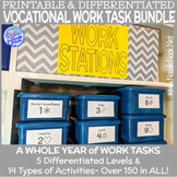 11 Printable Vocational Work Task Box BUNDLE for SpEd and