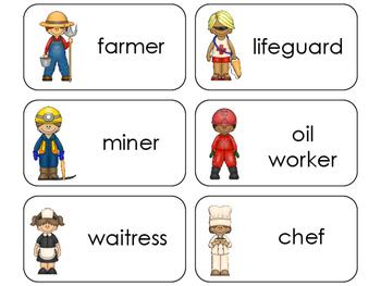 11 Professions Beginning Stages Flashcards. Preschool-1st Grade