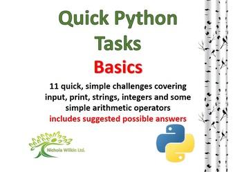11 Quick Python Programming Challenges (the basics)