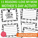 11 Reasons I Love my Mom Because-Mother's Day Mini Book-Mother's Day