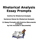 11 Rhetorical Analysis Prompts