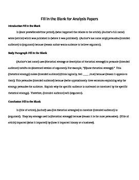 11 Rhetorical Analysis Prompts