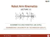 11. Robot Arm Kinematics