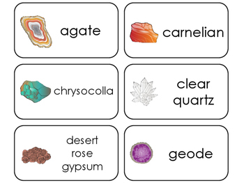 11 Rocks, Minerals, Crystals, and Stones Printable Beginning Stages Flashcards.