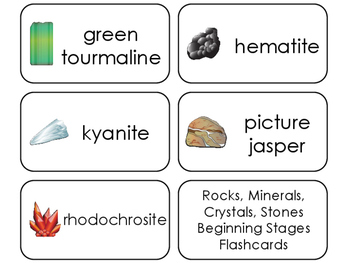 11 Rocks, Minerals, Crystals, and Stones Printable Flashcards. Geology.