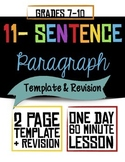 11-Sentence Paragraph Template and Revision--