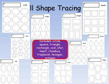 11 Shape Tracing Shapes Precious Preschoolers