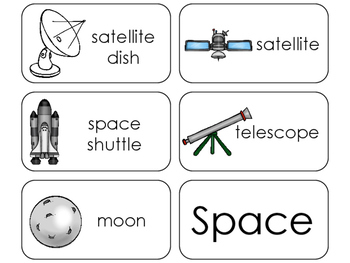 11 Space Beginning Stages Flashcards. Preschool-1st Grade
