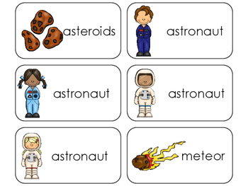 11 Space Beginning Stages Flashcards. Preschool-1st Grade