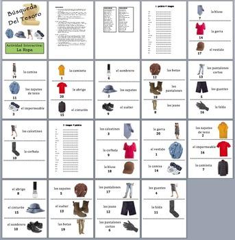 11 Spanish Vocabulary Scavenger/Treasure Hunt Activities